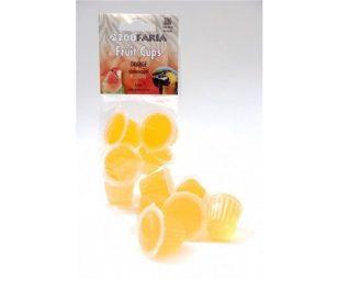 ZooFaria coppette all'arancia 6 pz. Una delizia per ogni pappagallo! Adatto anche per rettili.