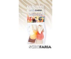ZooFaria Mix di frutta in sei gusti. Una vera prelibatezza per tutti i pappagalli. Un modo speciale per premiare il vostro pappagallo!