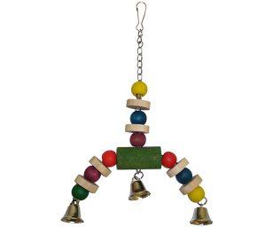 Jingler Wood Bird Toy è un giocattolo molto stimolante per gli uccelli con i suoi colori vivaci