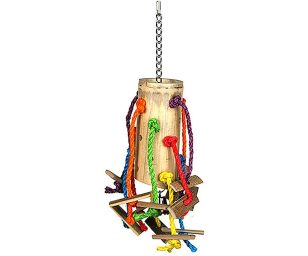 E' una grande fonte di intrattenimento per promuovere il benessere del vostro pappagallo.