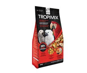 Tropimix per grandi pappagalli è un mix di cibo intero di prima qualità composto da cereali esotici