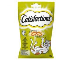 Catisfactions tonno è una deliziosa linea di fuoripasto per il proprio gatto. Si tratta di croccantissimi snack con un morbido ripieno a cui i gatti non sapranno resistere.