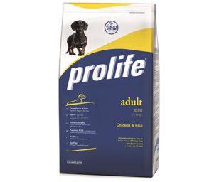 Prolife Adult Mini è un alimento completo formulato rispettando le particolari esigenze nutrizionali dei cani di taglia piccola (fino a 10 kg di peso)