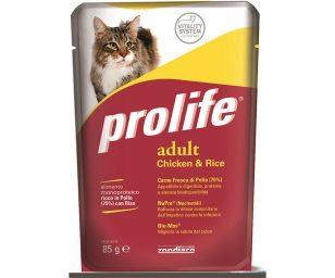 Alimento completo ricco in Carne Fresca di Pollo con Riso per il gatto adulto a partire da 12 mesi.