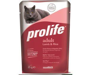 Alimento completo ricco in Carne Fresca di Agnello con Riso per il gatto adulto a partire da 12 mesi.