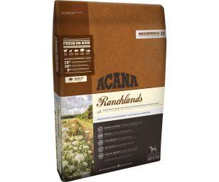 ACANA Ranchlands si ispira ai nostri vasti e fertili ranch e contiene ingredienti regionali freschi unici
