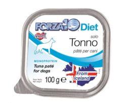 Forza10 solo diet tonno è una dieta monoproteica al pesce della linea dietetica studiata da sanypet per la riduzione delle allergie e delle intolleranze alimentari.