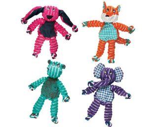 I kong floppy knots sono i nuovi arrivati nella tribù dei knots con un design allegro e morbido che assicura ore di divertimento scatenato.