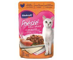 Questi deliziosi bocconcini con petto di tacchino succosa in gran salsa più sottile sono una vera delizia culinaria per il vostro gatto e sono gusto irresistibile.