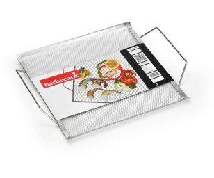 Griglia a maglia fine da utilizzare sopra la griglia del barbecue per una semplice cottura di piccoli antipasti e spuntini.