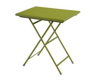 Tavolo Rettangolare Pieghevole Arc En Ciel 70x50 Verde Emu
