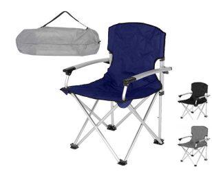 Con questa sedia da giardino pieghevole goditi delle piacevole giornate in totale relax. La sedia è adatta anche all'uso in campeggio