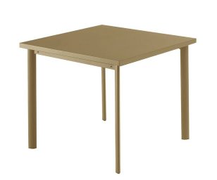 Tavolo Quadrato Star 70x70 Sabbia Raggr. Emu