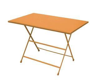 Tavolo Rettangolare Pieghevole Arc En Ciel 110x70 Arancio Emu