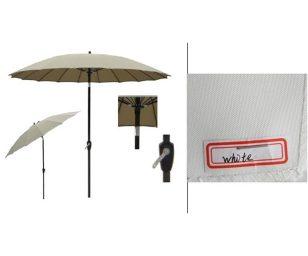 Ombrellone pagoda tondo bianco con manovella