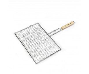 Una griglia rettangolare elastica perfetta per cucinare carni (o alimenti in genere) con spessori diversi.