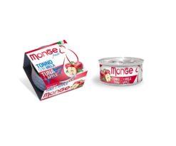 Monge Fruits Tonno con Mela è un alimento complementare pensato per i gatti più raffinati ed esigenti che completa la gamma Monge Natural Superpremium