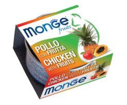 Monge Fruits Pollo con Frutta è un alimento complementare pensato per i gatti più raffinati ed esigenti che completa la gamma Monge Natural Superpremium
