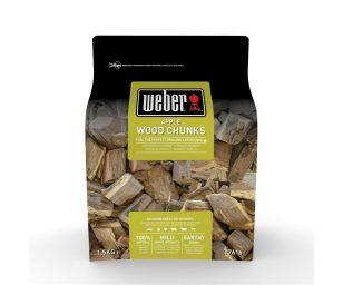 Grandi pezzi di legna per affumicatura Weber - melo