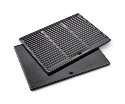 Pratica griglia double face. Impedisce al cibo di entrare direttamente in contatto con la fiamma e aiuta a mantenere pulita la griglia.