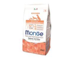 Le crocchette monge natural superpremium speciality line puppy & junior con salmone e riso sono un alimento completo per cuccioli di tutte le razze.