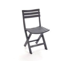 Sedia komodo antracite pieghevole
