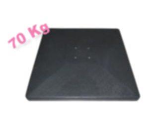 Base quadrata cm 80x80x9h cemento sintetico 70 kg.