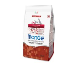 Le crocchette Monge Natural Superpremium Speciality Line Mini Adult con Agnello