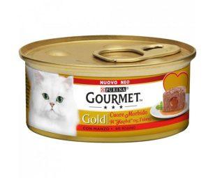 Una tenera e irresistibile mousse per gatto con un sorprendente cuore morbido al suo interno. Il tuo gatto gusterà la soffice e delicata mousse