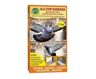 Ala stop barriera policarbonato e acciaio cm 150.