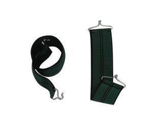 Cinghie elastiche di ricambio con gancio in ferro nelle due estremità.