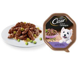 Cesar® dedica un'intera gamma di alimenti umidi per cani alla tradizione culinaria italiana: le Ricette di Campagna.