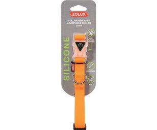 Collare in silicone 20 mm arancio.