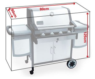 Copertura barbecue cm 80x80x125