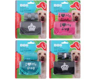 Sacchetti + portasacchetti per cane.