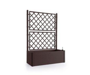 È un sistema versatile e modulare per organizzare e arredare gli spazi – indoor e outdoor – con il verde. Con spalliera grigliata è perfetta per schermare