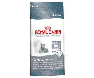 Royal canin oral sensitive è l'alimento completo ed equilibrato per gatti adulti che contribuisce a limitare la formazione della placca dentaria e del tartaro.