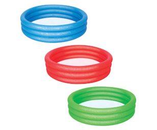 Piscina tinta unita a 3 anelli cm 122x25.