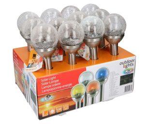 Lampione solare vetro cm 8x34h.