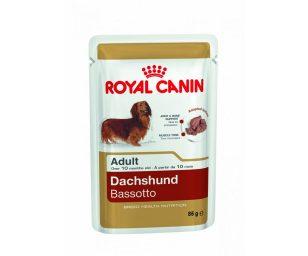 Morbido patè per cani adulti e maturi oltre 10 mesi di età royal canin bassotto. Alta qualità ed appetibilità
