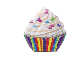 Materassino cupcake cm 142x135 con stampa realistica.
