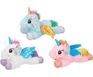 Peluche unicorno cm 34 assortiti.