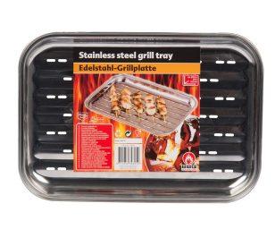 Vassoio inox per griglia.