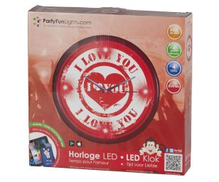 Orologio 4 led love cm 30.