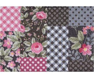 Tappeto clean keeper patchwork fiori cm 50x70.