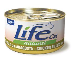 Life pet cat pollo con aragosta 85 g.