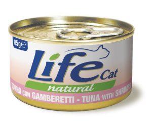 Life pet cat tonno con gamberetti 85 g.