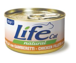 Life pet cat pollo con gamberetti 85 g.