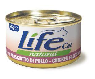 Life pet cat pollo con prosciutto 85 g.