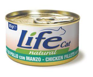 Life pet cat pollo e manzo 85 g.